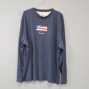 Life is good American Flag graphic long sleeve top